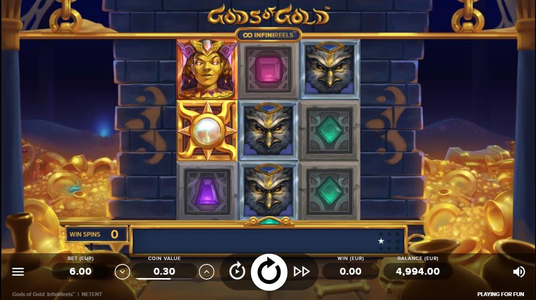 Слот Gods of Gold InfiniReelsиграть бесплатно