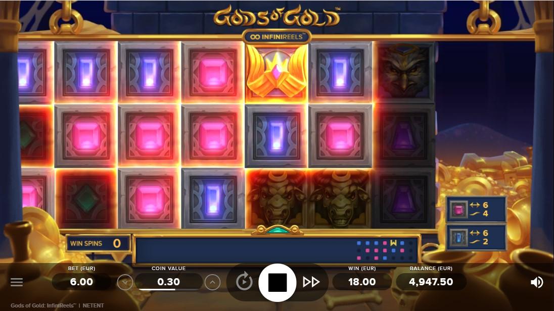Gods of Gold InfiniReels игровой автомат