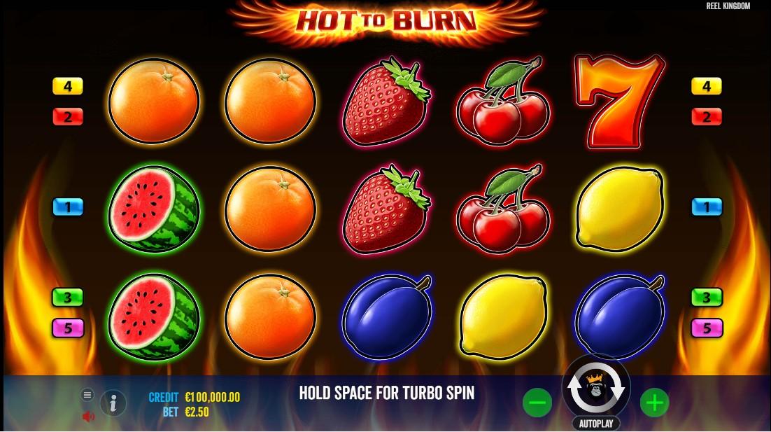Hot to burn бесплатный слот