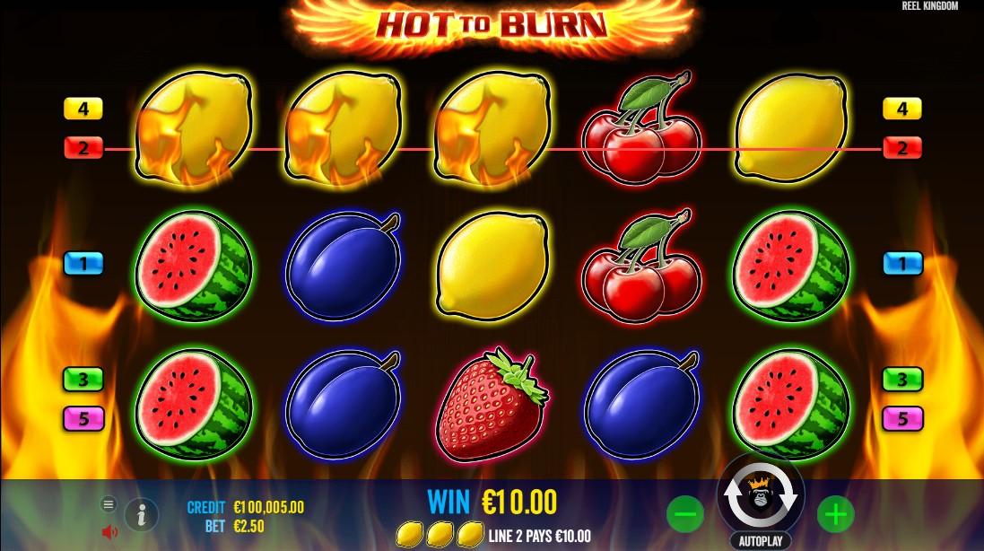 Слот Hot to burn играть