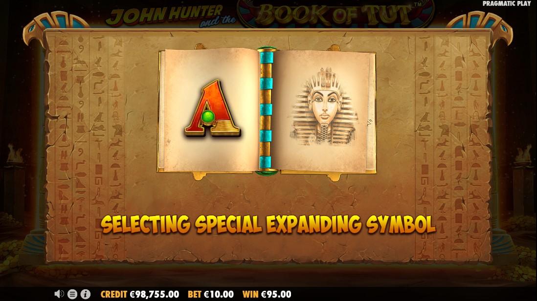 Онлайн слот John Hunter and the book of Tut