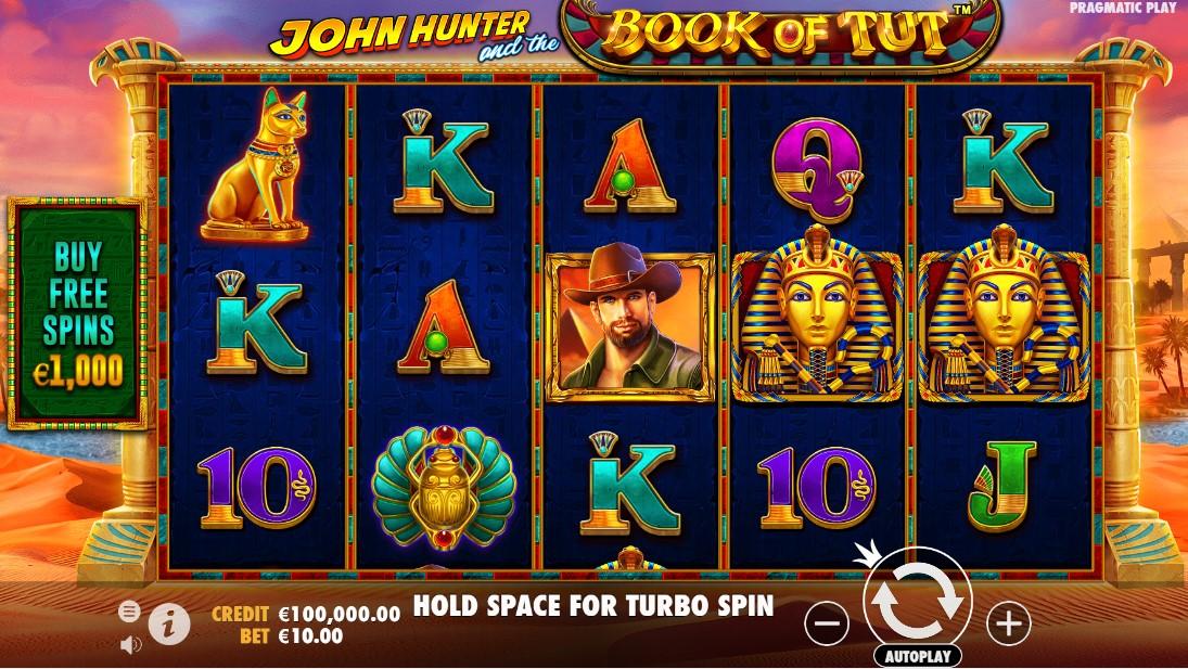 Бесплатный слот John Hunter and the book of Tut