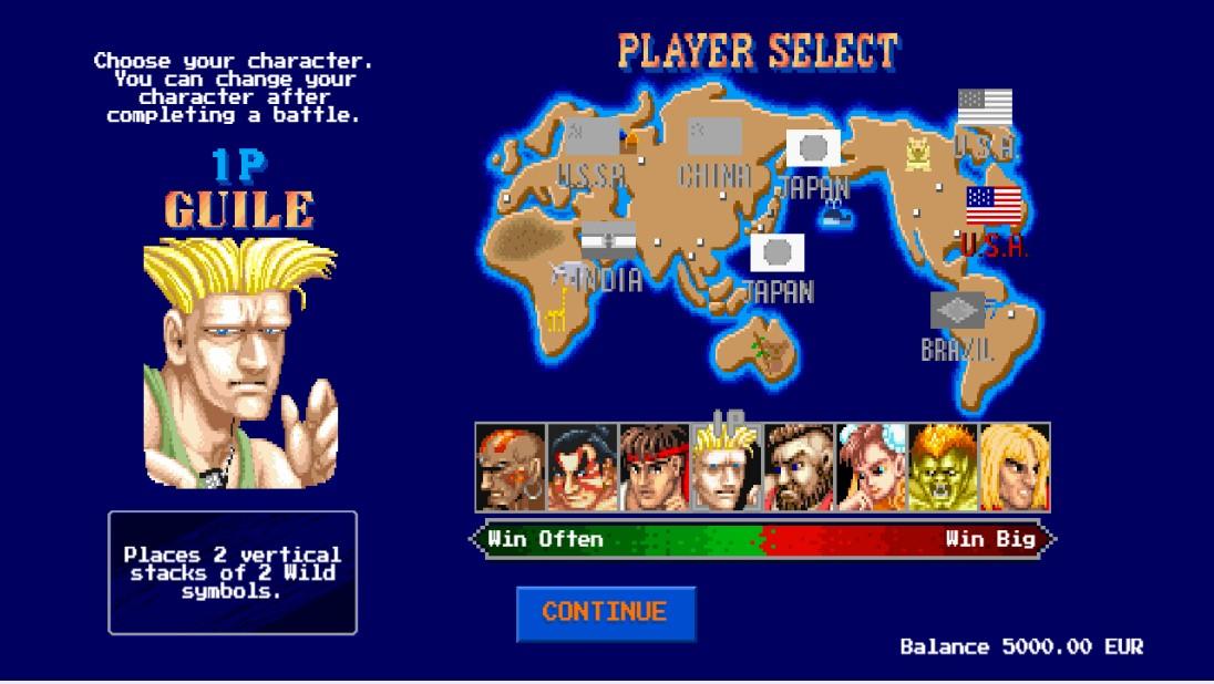 Бесплатный слот Street Fighter II