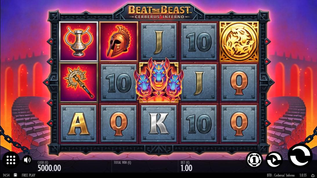 Free slot Beat the Beast Cerberus' Inferno