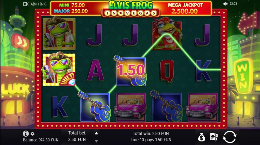Elvis Frog in Vegas игровой автомат