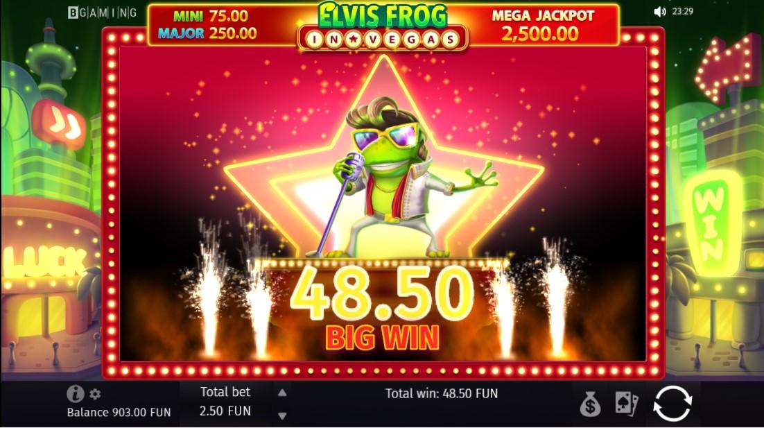 Elvis Frog in Vegas бесплатный слот
