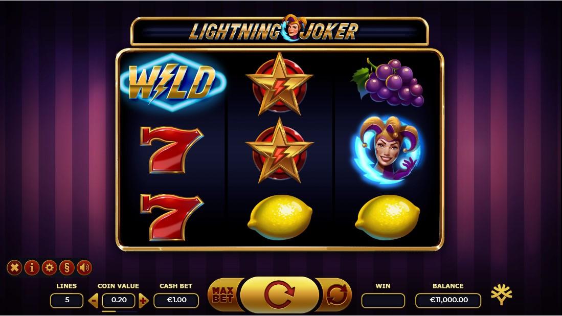 Слот Lightning Joker играть бесплатно