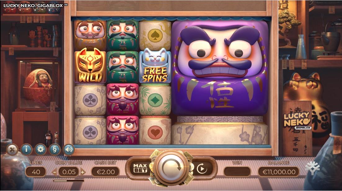 Слот Lucky Neko Gigablox играть онлайн