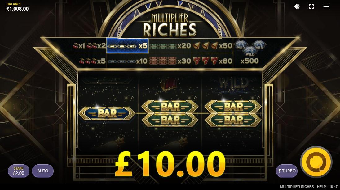 Игровой автомат Multiplier Riches