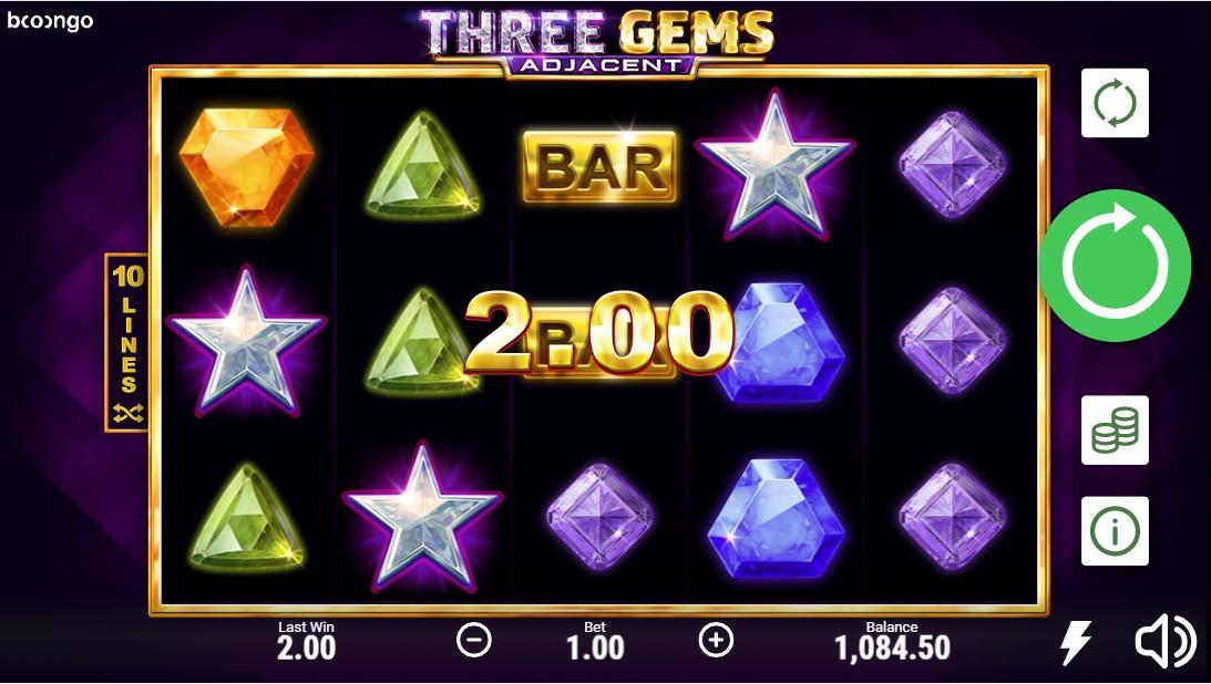 Three Gems Adjacent free slot