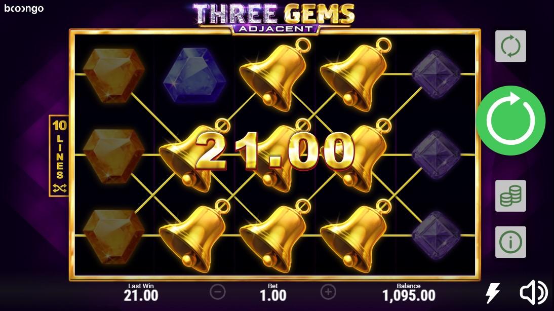 Three Gems Adjacent бесплатный слот