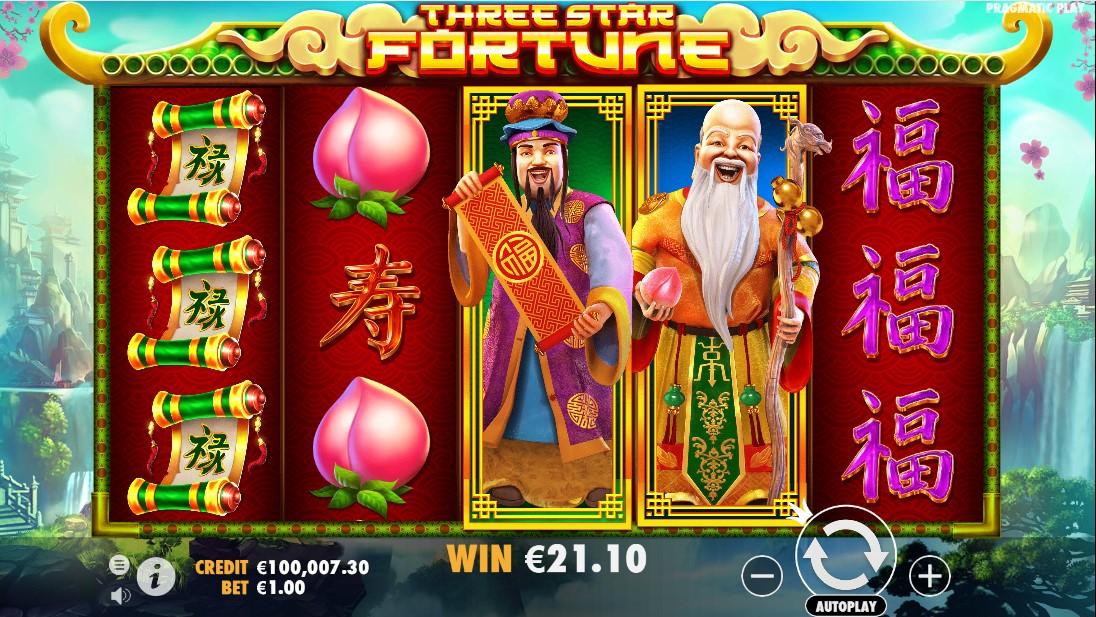 Three Star Fortune онлайн слот