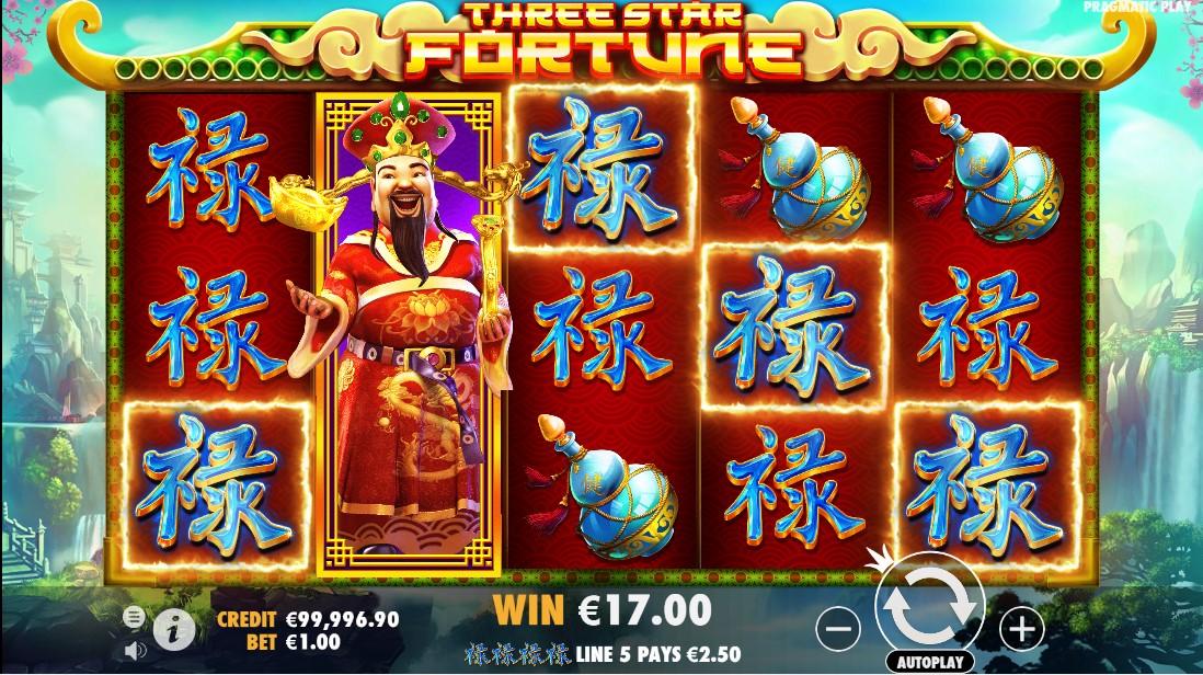 Three Star Fortune игровой автомат