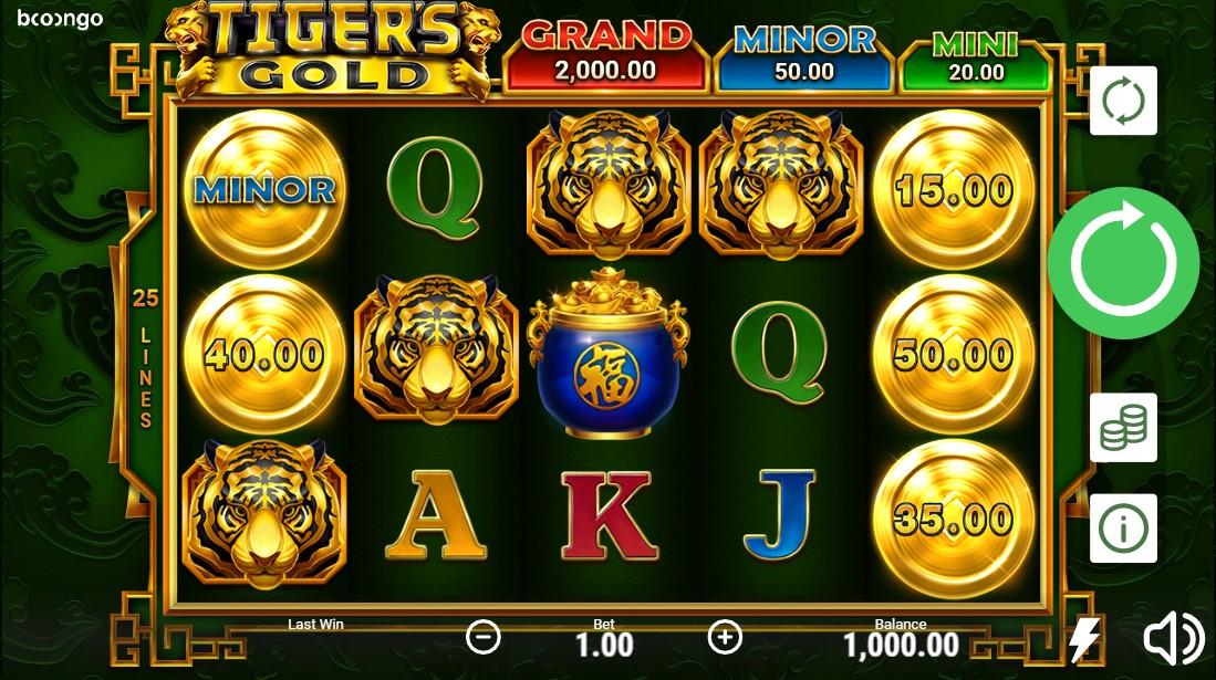 Tigers Gold бесплатный слот
