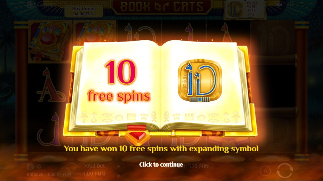 Book Of Cats free slot