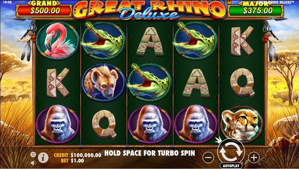 Great Rhino Deluxe бесплатный слот