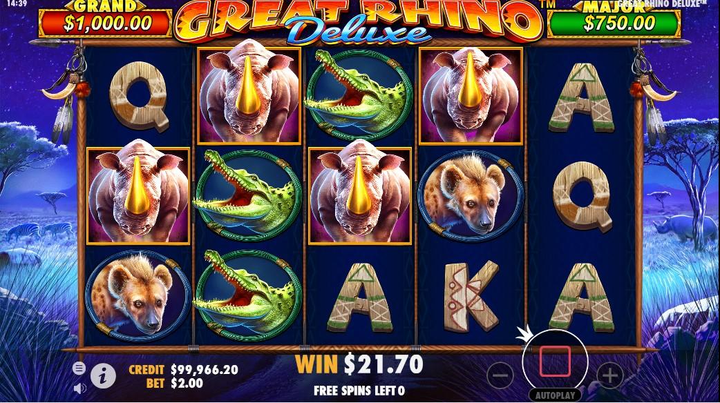 Great Rhino Deluxe free slot