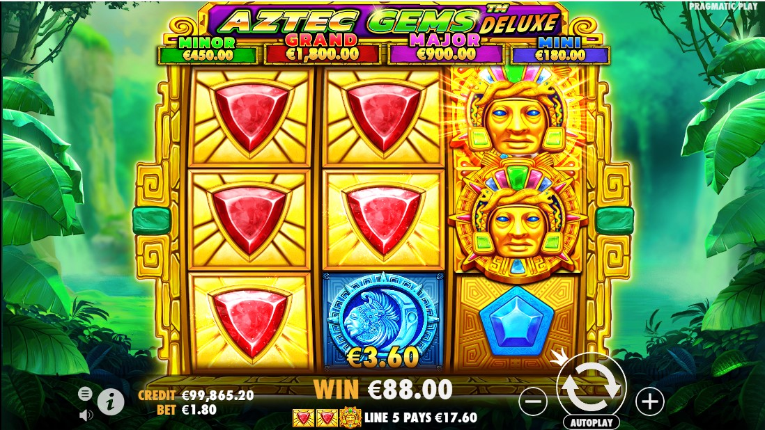 Aztec Gems Deluxe игровой автомат