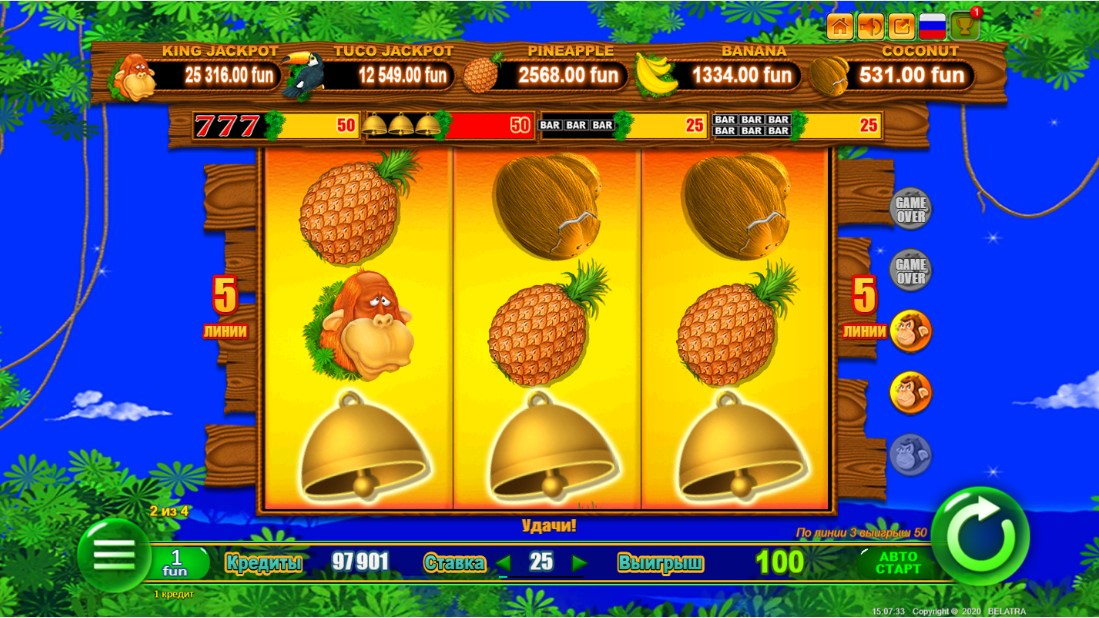 Monkey Jackpot игровой автомат