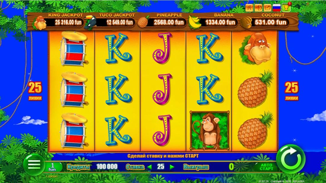 Monkey Jackpot онлайн слот