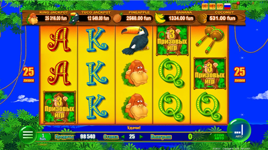 New year monkey jackpot игровой автомат