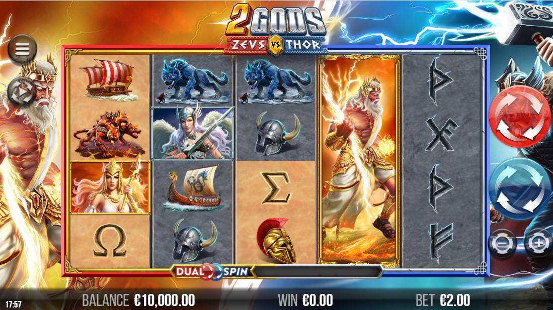 Слот 2 Gods Zeus versus Thor играть