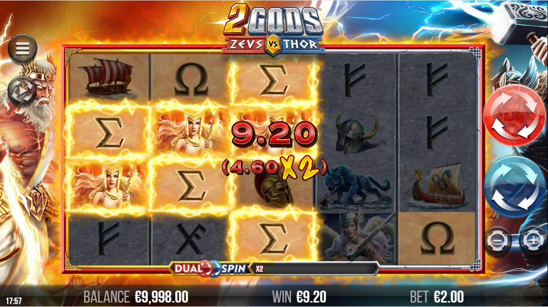2 Gods Zeus versus Thor бесплатный слот
