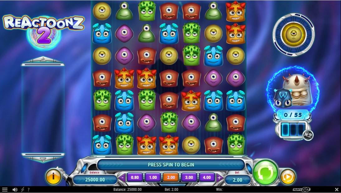 Reactoonz 2 онлайн слот