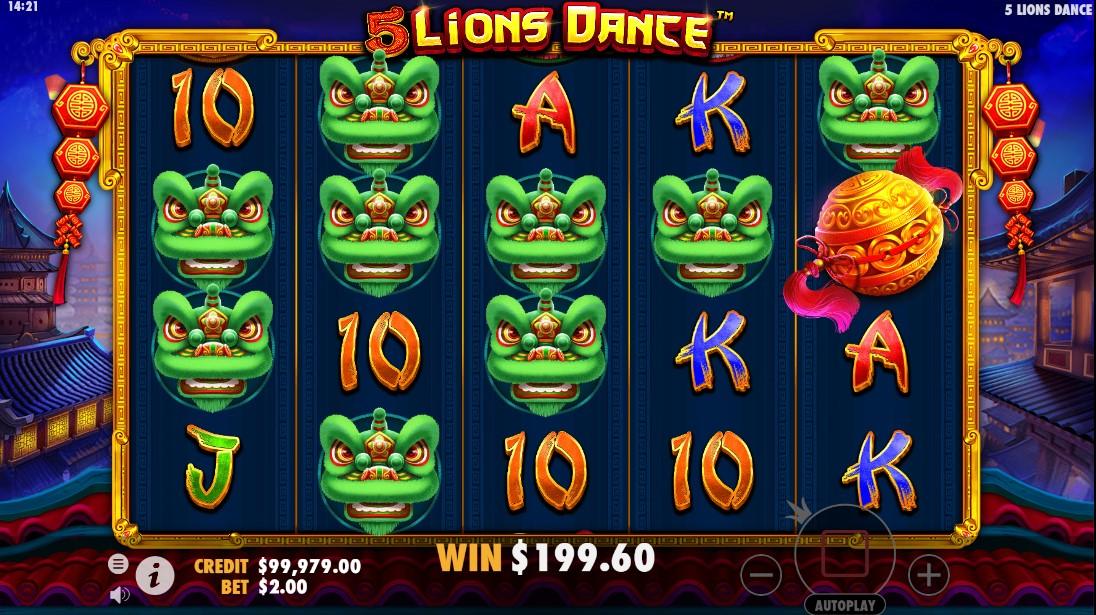 5 Lions Dance игровой автомат
