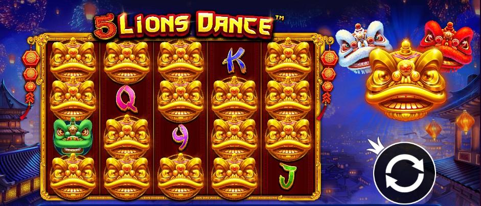 Играть 5 Lions Dance бесплатно