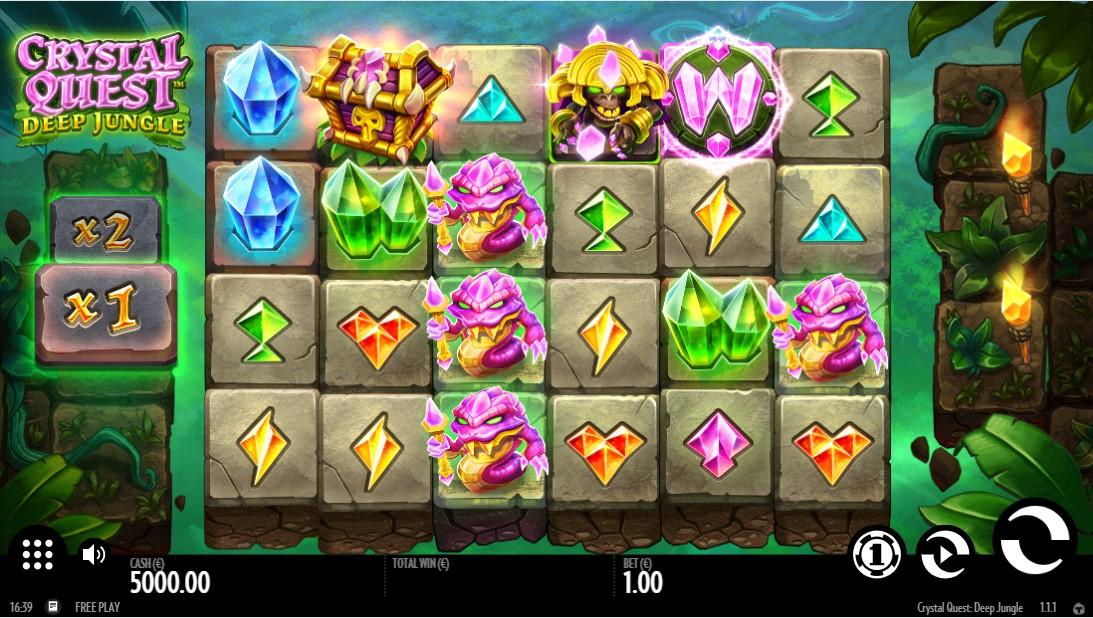 Crystal Quest Deep Jungle free slot
