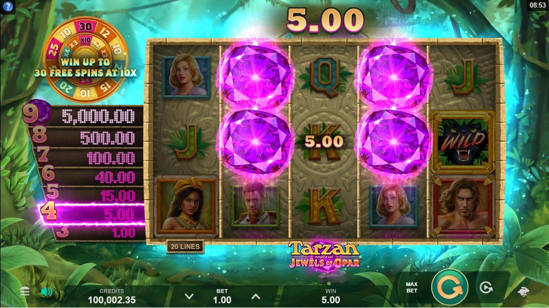 Tarzan and the Jewels of Opar free slot