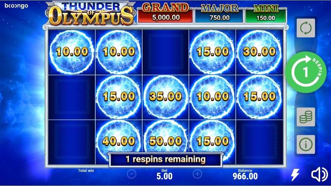 Thunder of Olympus free slot