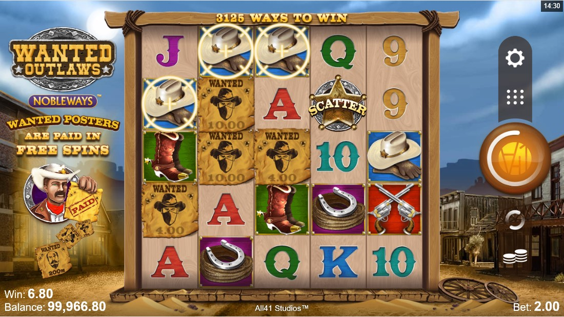 Wanted Outlaws Nobleways free slot