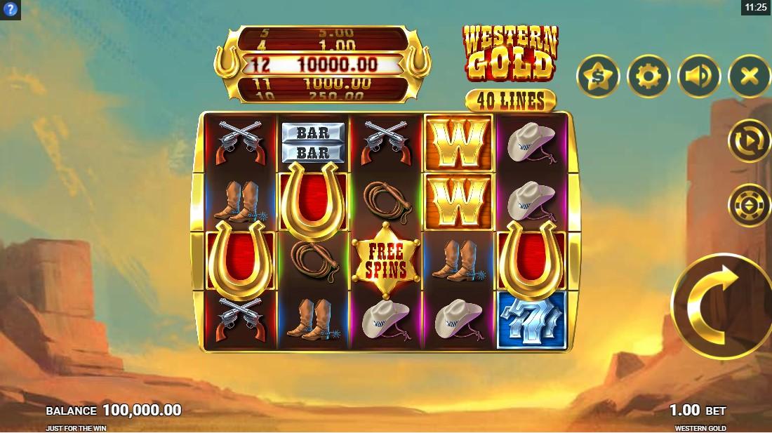 Western Gold бесплатный слот