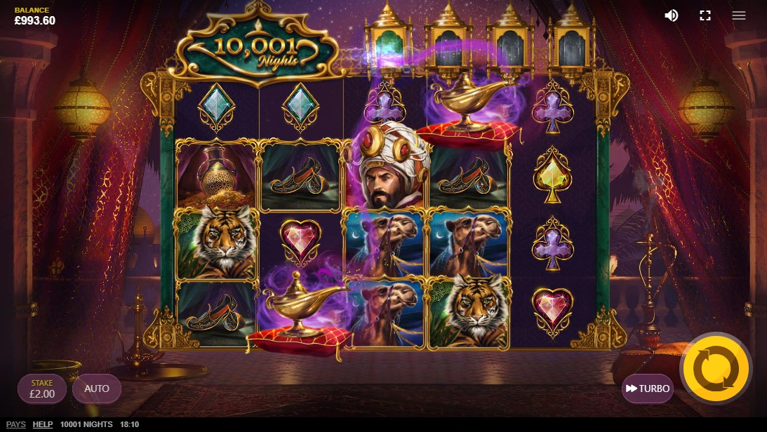 10,001 Nights free slot