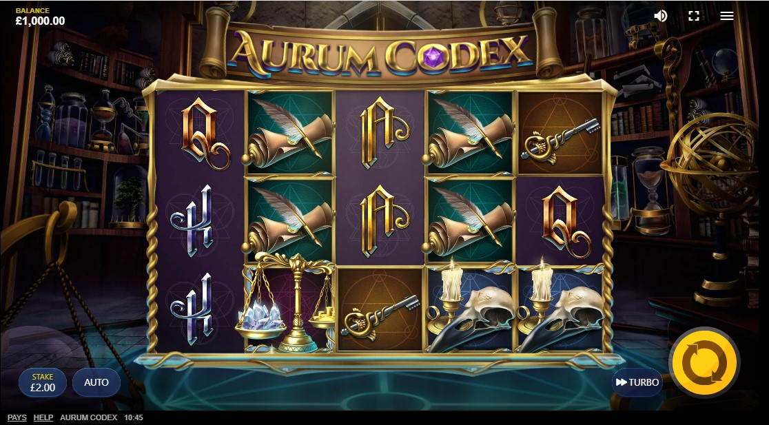 Aurum Codex бесплатный слот