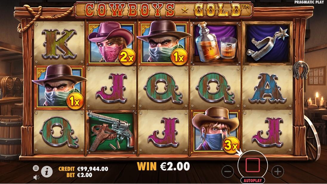 Cowboys Gold free slot