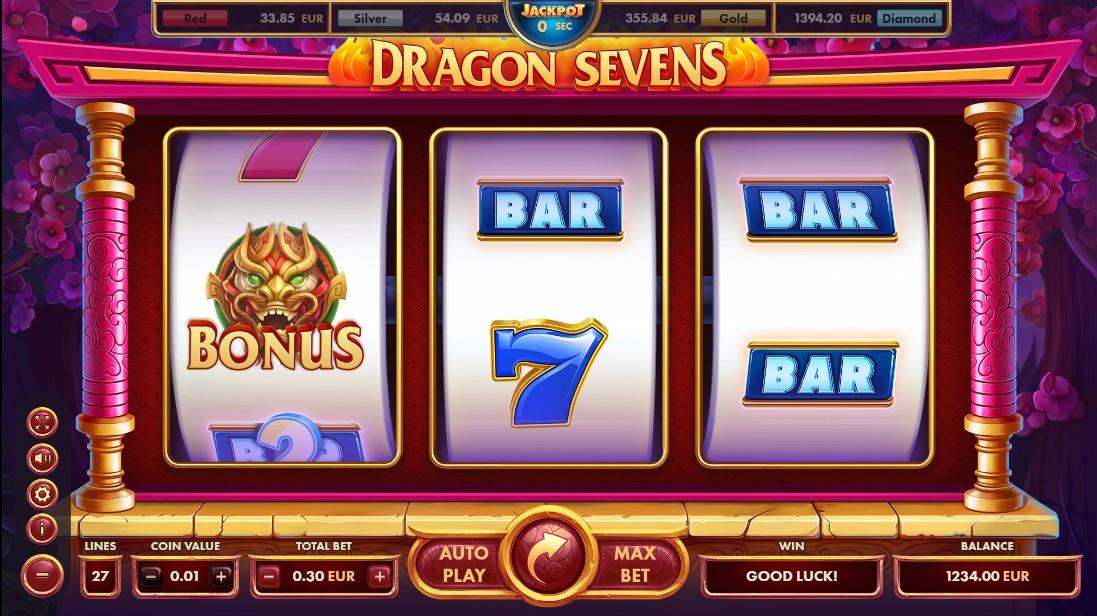 Играть бесплатно Dragon Sevens