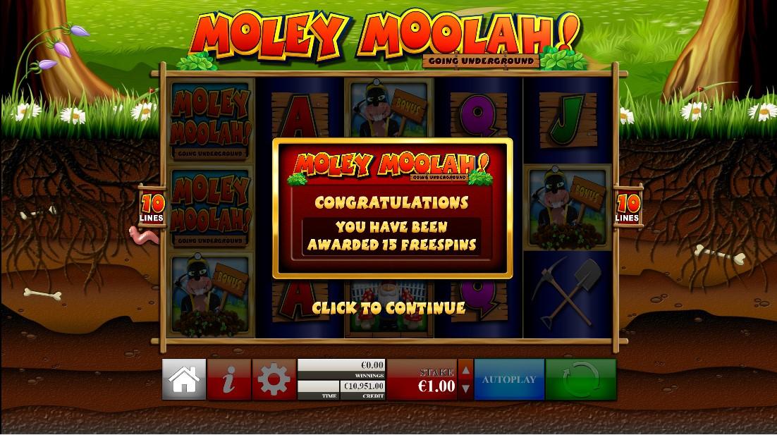 Moley Moolah бесплатный слот