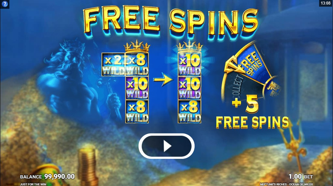 Neptune's Riches Ocean of Wilds free slot