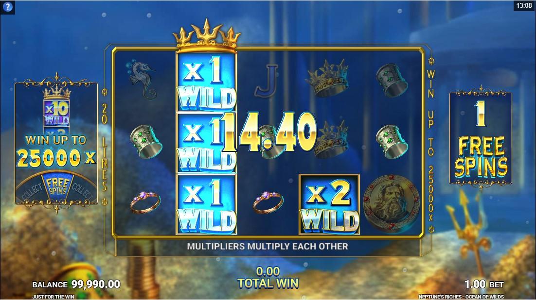 Игровой автомат Neptune's Riches Ocean of Wilds