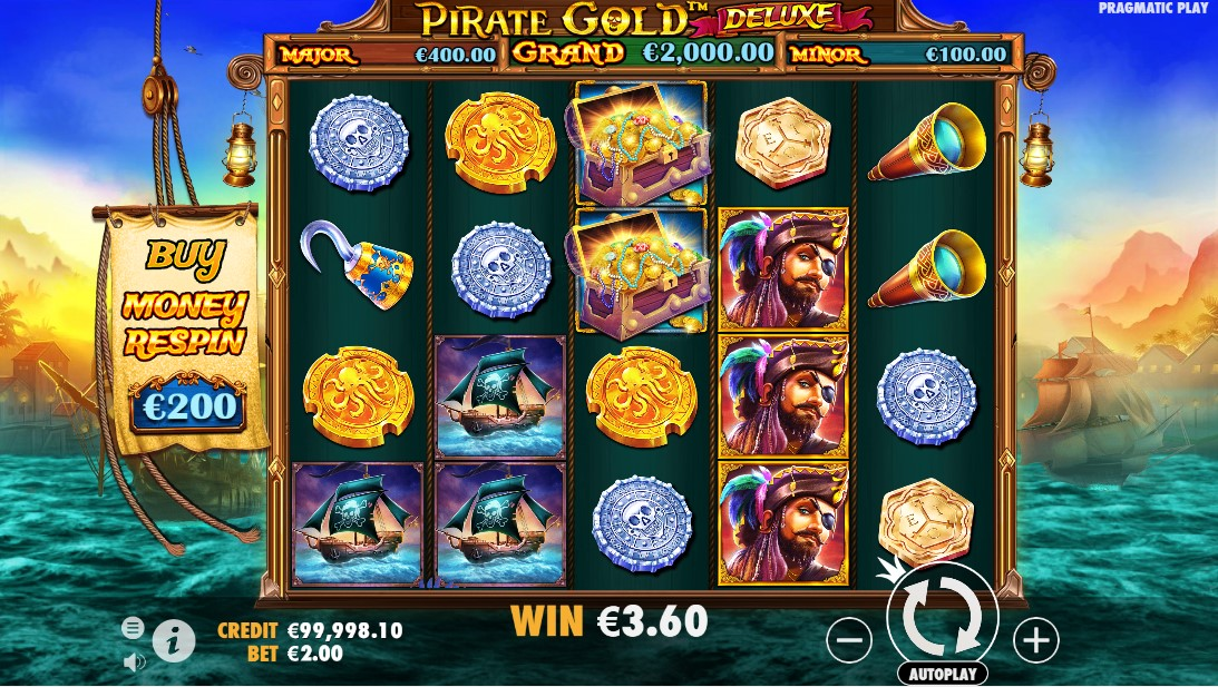 Pirate Gold Deluxe онлайн слот