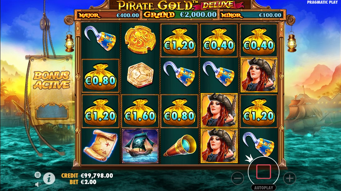 Слот Pirate Gold Deluxe играть