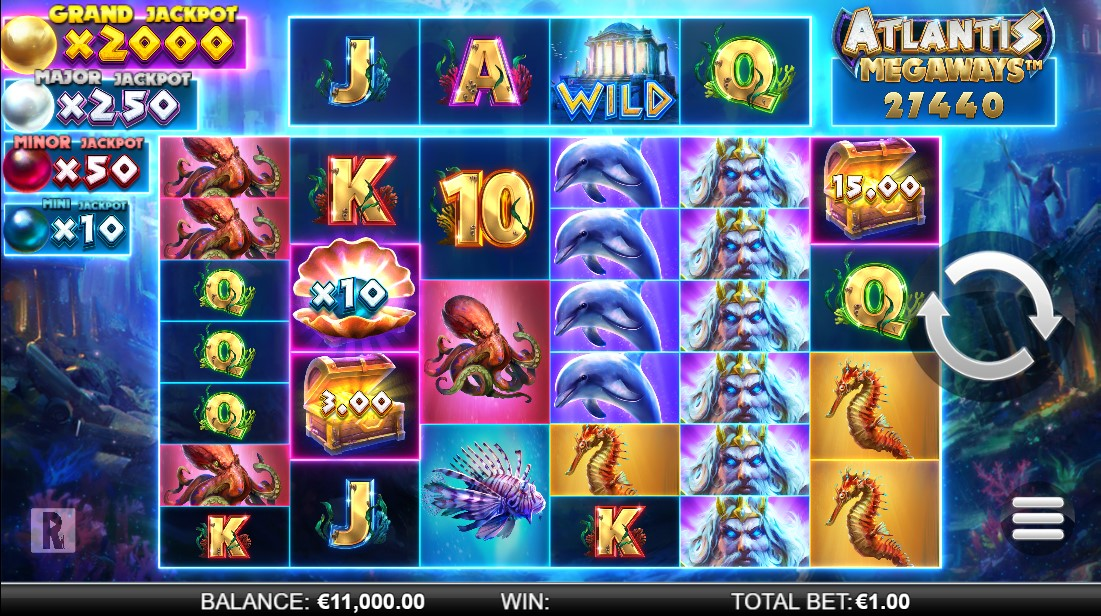 Free slot Atlantis Megaways
