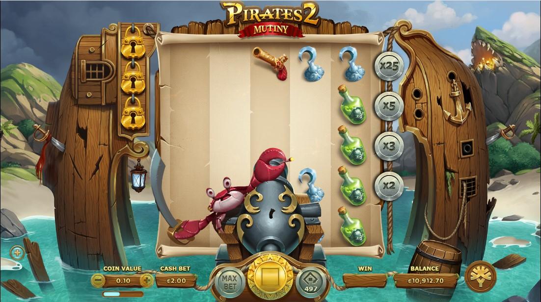 Pirates 2 Mutiny бесплатный слот