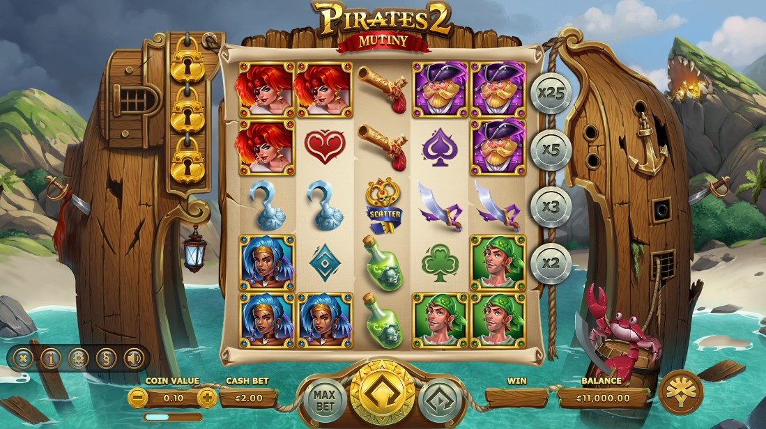 Pirates 2 Mutiny онлайн слот