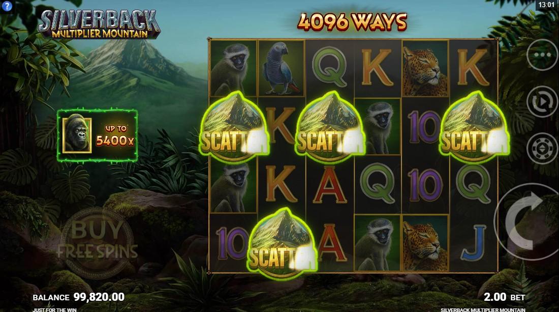 Слот Silverback Multiplier Mountain играть бесплатно
