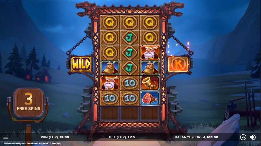 RICHES OF MIDGARD LAND AND EXPAND ИГРОВОЙ АВТОМАТ LUCKY