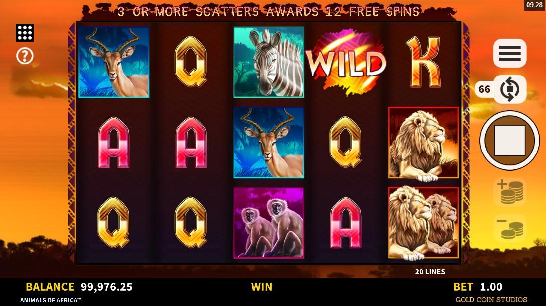 Animals of Africa free slot